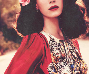lana del rey, lana, and flowers image