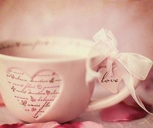 coffee, pink, and cup image