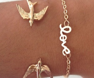 bird, bracelet, and gold image