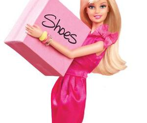 barbie, shoes, and pink image