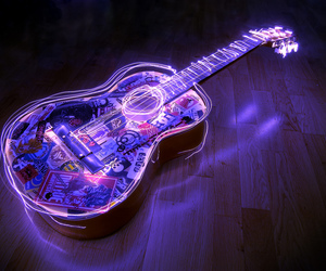 acoustic, draw, and glowing image