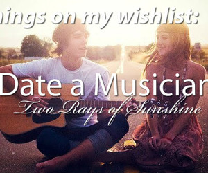 date, music, and musician image