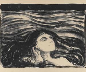art, edvard munch, and woman image