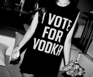 vodka, girl, and party image