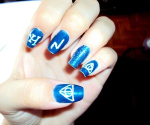 nails, blue, and harry potter image