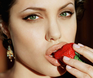 Angelina Jolie, strawberry, and sexy image