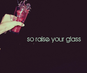 glass, pink, and drink image