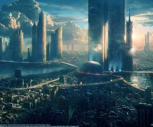 city and scifi image