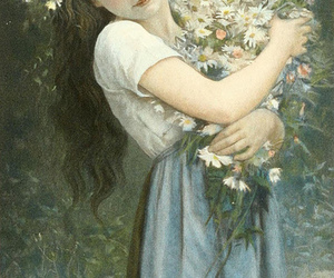 daisies, flower girl, and maiden image