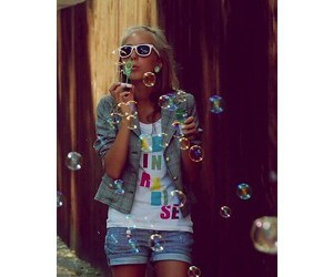 bubble and girl image