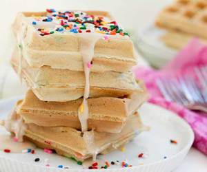 party, recipe, and waffles image