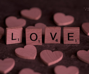 love, hearts, and scrabble image