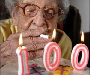 100, birthday, and cigarette image