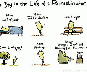 procrastinator, funny, and lol image