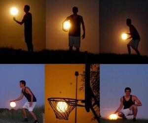 sun, Basketball, and basket image
