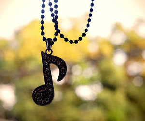 music, necklace, and note image