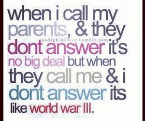 answer, call, and parents image