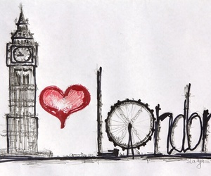 london, love, and Big Ben image
