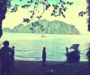 beach, boat, and holliday image