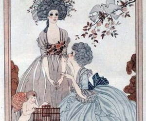 blue, decolletage, and fashion plate image