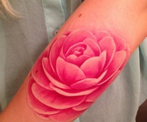 tattoo, pink, and flowers image