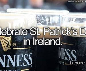 beer, bucket list, and st patrick image