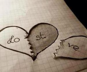 love, lost, and heart image