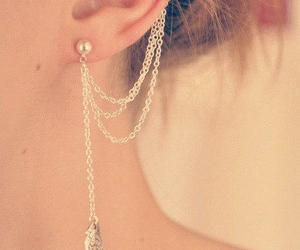 ear cuffs, earrings, and pretty image