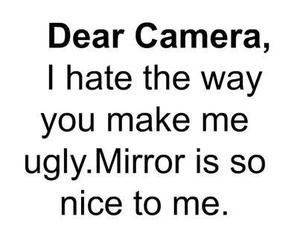 camera, mirror, and quote image