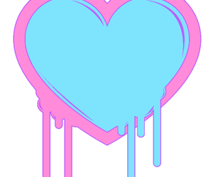 blue, heart, and pink image