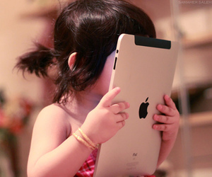 kid, arab, and ipad image