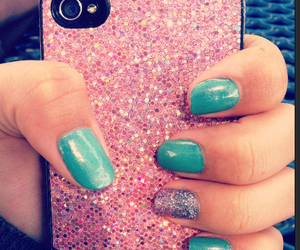 girly, glitter, and iphone image