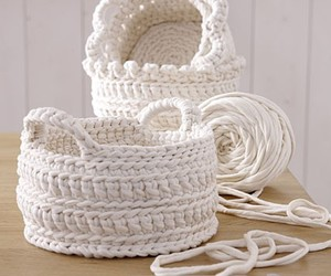 basket, craft, and crochet image