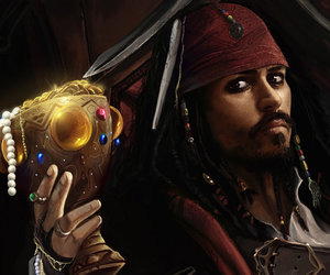 illustration, pirates of the caribbean, and jack sparrow image