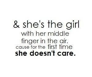 girl, middle finger, and quotes image