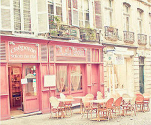 crepe, france, and pink image