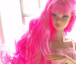 barbie, pink, and pink hair image