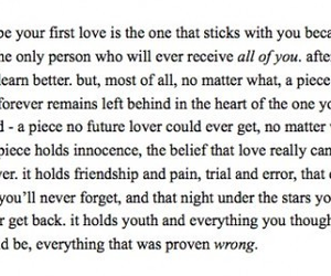 quote, first love, and love image