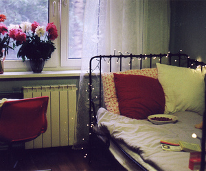 bed, room, and bedroom image
