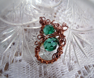 kolczyki and wire wrapping image