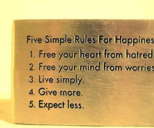 happiness, rules, and quote image