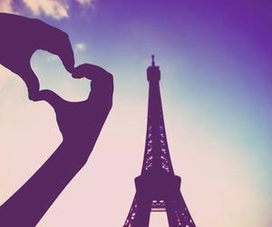 paris, heart, and sky image