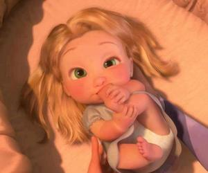 baby, children, and tangled image