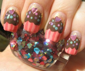 nails, cupcake, and art image