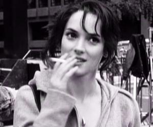 winona ryder, cigarette, and smoke image