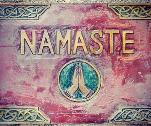 namaste and peace image