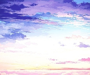anime, pretty, and sky image