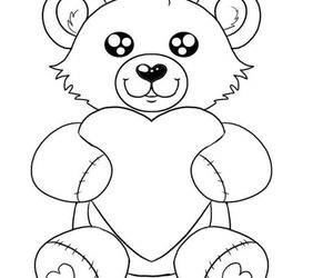 bear, draw, and teddy image