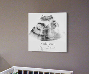 baby shower gift, baby room decor, and sonogram frame image