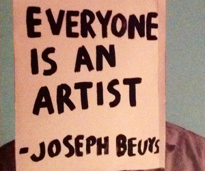 Joseph Beuys, quote, and text image